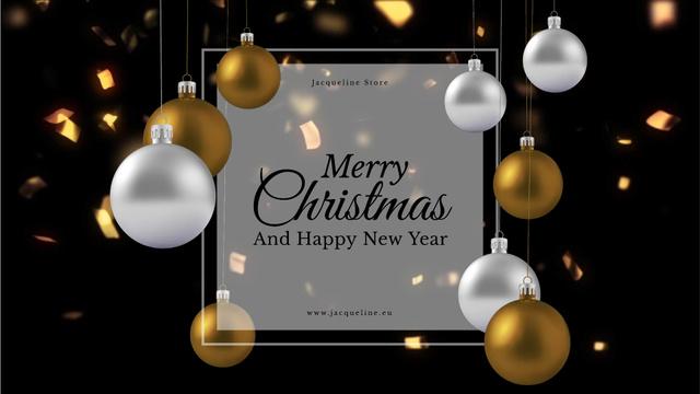 Plantilla de diseño de Shiny Christmas decorations Full HD video