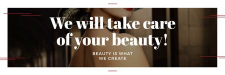 Plantilla de diseño de  Citation about care of beauty  Twitter
