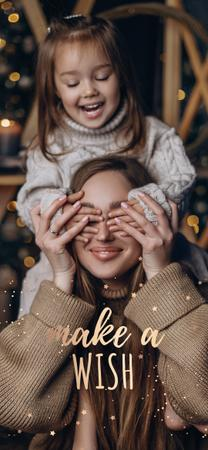 Happy mother with daughter Snapchat Moment Filter – шаблон для дизайну