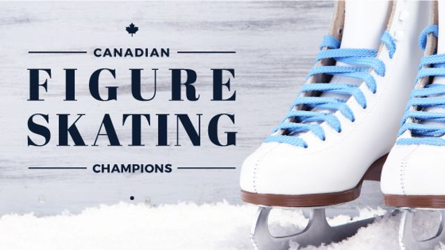 Figure Skating guide Pair of Skates Title – шаблон для дизайну