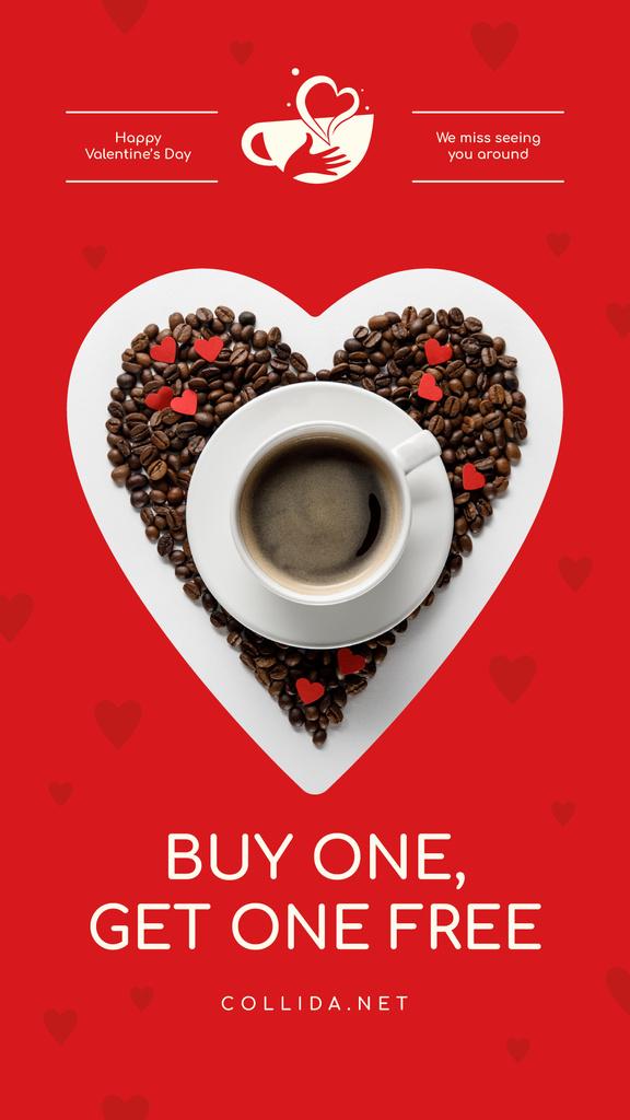Valentine's Day Coffee Cup in Heart — Maak een ontwerp