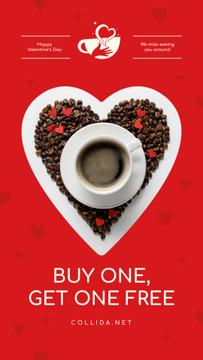 Valentine's Day Offer Coffee Cup with Heart
