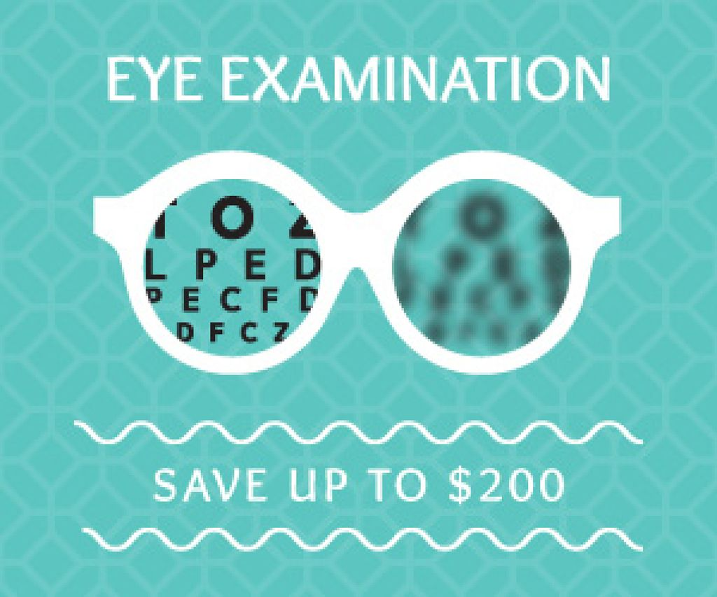 Clinic Promotion Eye Examination Offer in Blue — Créer un visuel
