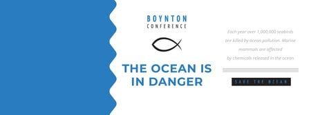 Designvorlage Boynton conference the Ocean is in danger für Facebook cover