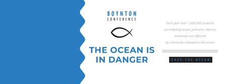 Ontwerpsjabloon van Facebook cover van Boynton conference the Ocean is in danger