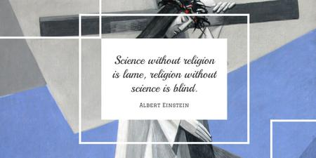Ontwerpsjabloon van Twitter van Citation about science and religion