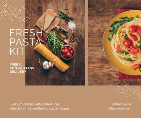 Template di design Fresh Pasta Kit Delivery Offer Facebook