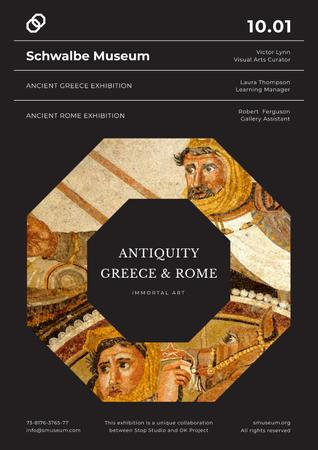 Ancient Greece and Rome exhibition Posterデザインテンプレート