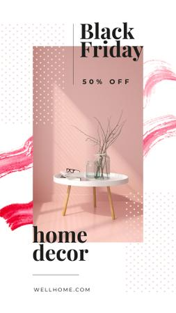 Szablon projektu Black Friday Sale Vases for home decor Instagram Story
