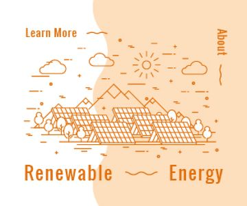 Renewable Energy Technologies Solar Panels | Medium Rectangle Template