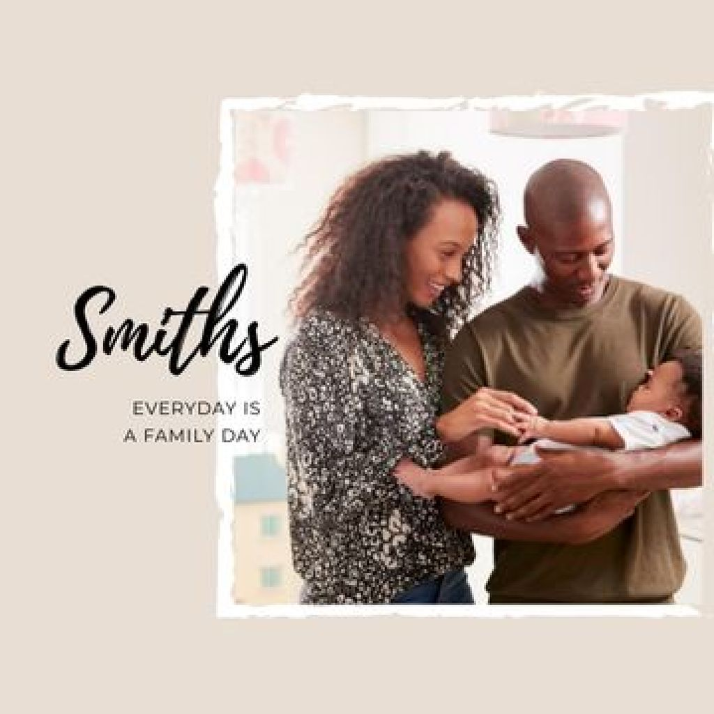 Happy Parents with their Baby Photo Book – шаблон для дизайна