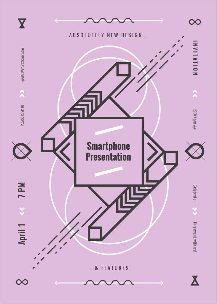 Smart home Presentation announcement in Linear geometric frame — Створити дизайн