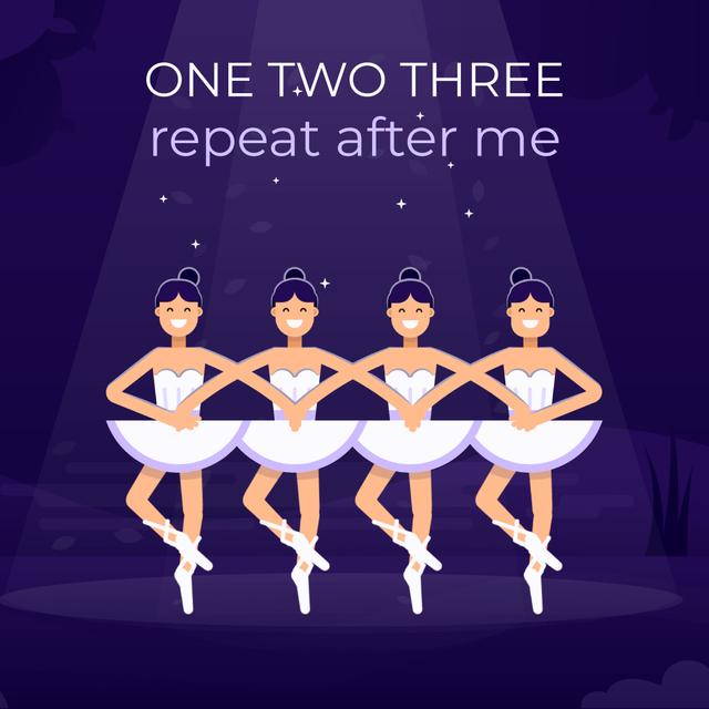 Ballerinas performing Swan Lake Animated Post Design Template