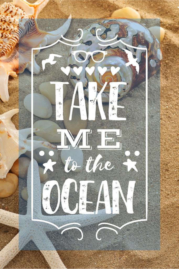 Vacation Theme with Shells on Sandy Beach — Створити дизайн
