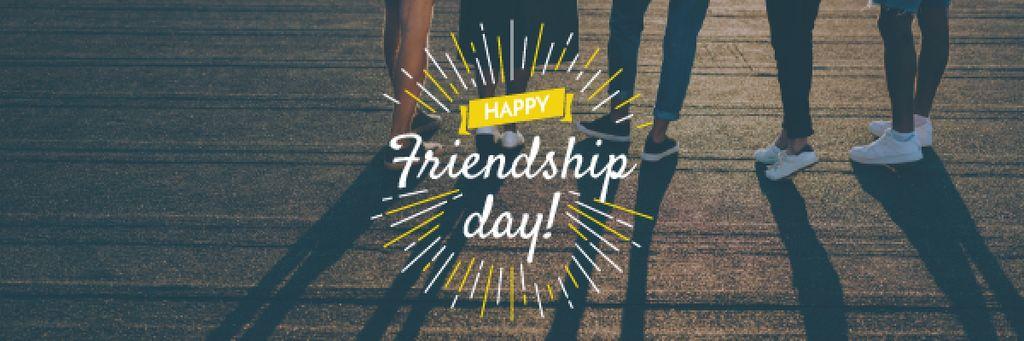 Friendship Day Greeting Young People Together — ein Design erstellen