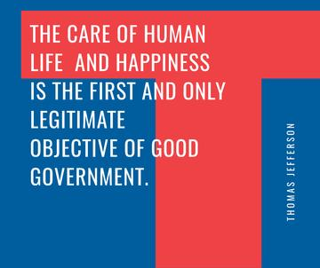 Good Government Quote on blue and red