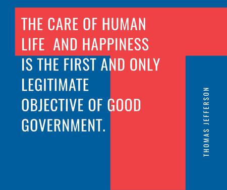 Good Government Quote on blue and red Facebook – шаблон для дизайна