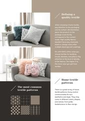 Home Textiles Review with Cozy Sofa