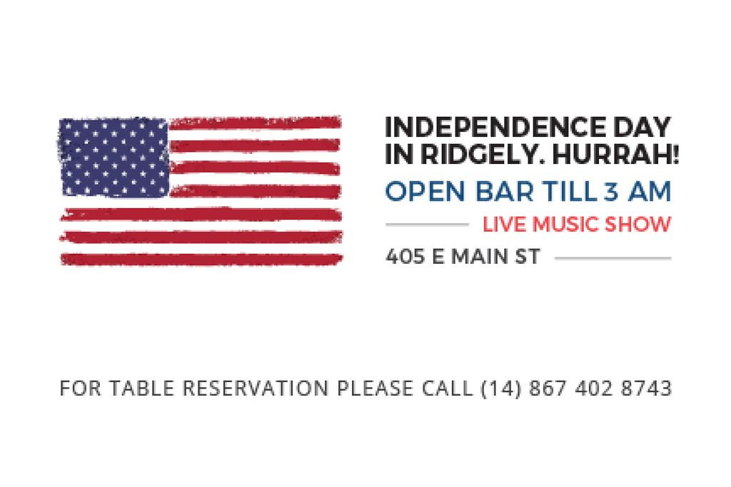 Independence day in Ridgely — Crear un diseño