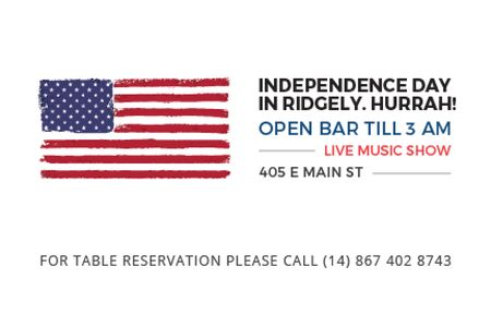 Modèle de visuel Independence day in Ridgely - Gift Certificate