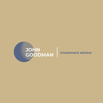 Investment Company Ad Globe Icon in Blue | Logo Template