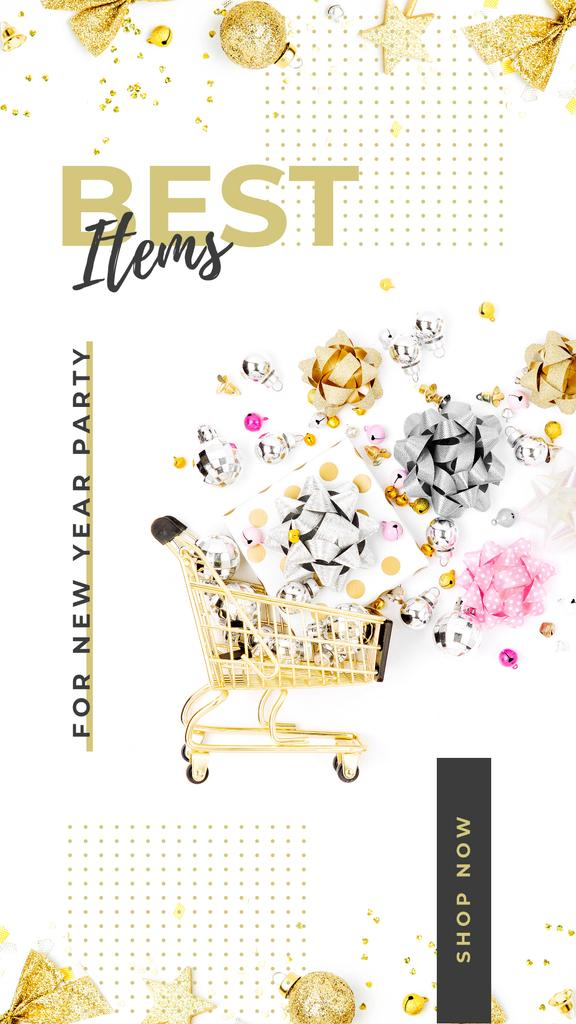 Shopping cart and bows for party — Create a Design
