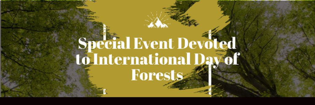 Special Event devoted to International Day of Forests Email header – шаблон для дизайна