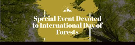 Plantilla de diseño de Special Event devoted to International Day of Forests Email header