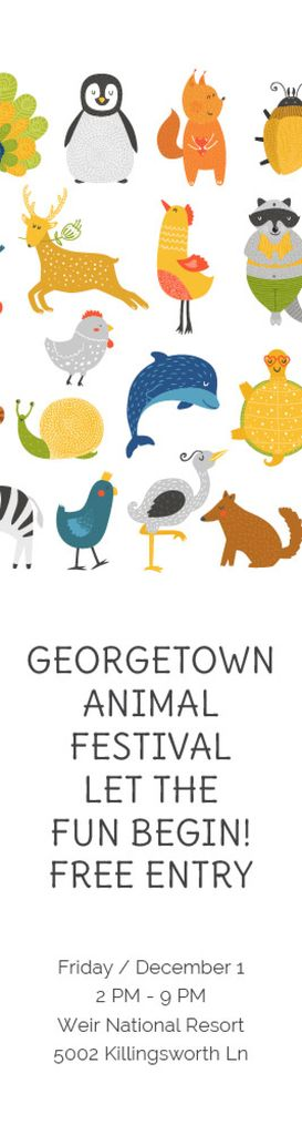 Animal Festival Announcement Animals Icon | Wide Skyscraper Template — Modelo de projeto