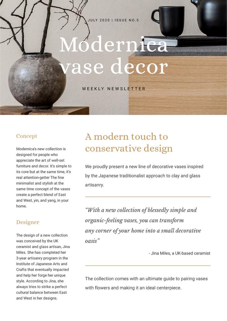 Home Decore Ad with Vase — ein Design erstellen