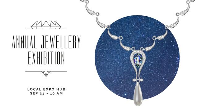 Szablon projektu Accessories Offer Necklace with Diamonds FB event cover