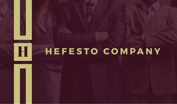 Hefesto company business card
