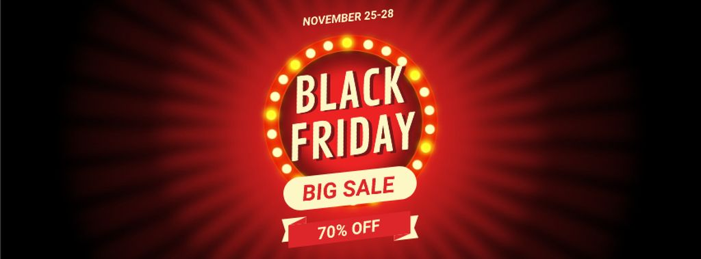 Black Friday Sale Flickering Lamps — Modelo de projeto