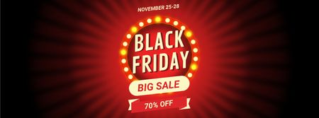 Ontwerpsjabloon van Facebook Video cover van Black Friday Sale Flickering Lamps