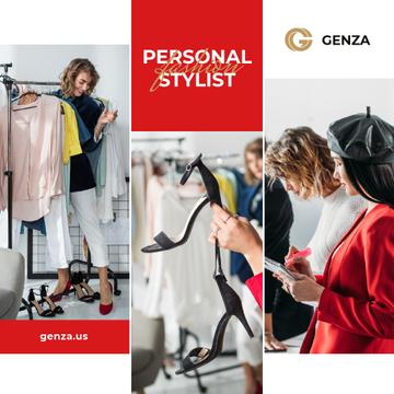 Personal Stylist Services Woman by Wardrobe | Instagram Post Template