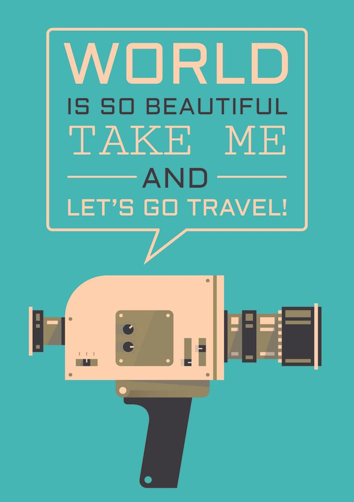 Motivational travel quote poster — Create a Design