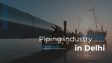 Industrial Pipe in Sea