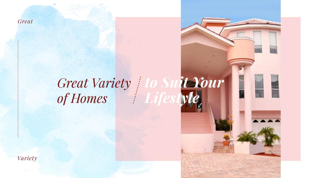 Modern pink house facade — Crea un design