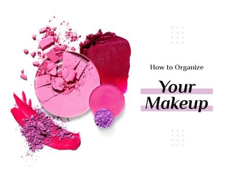 Ontwerpsjabloon van Presentation van Makeup Tips with Pink Eyeshadow