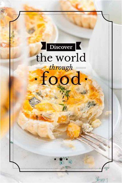 Food Inspiration Quote with tasty pie Tumblr Tasarım Şablonu