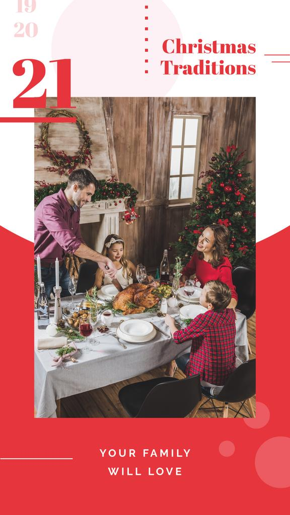 Family having Christmas dinner — ein Design erstellen