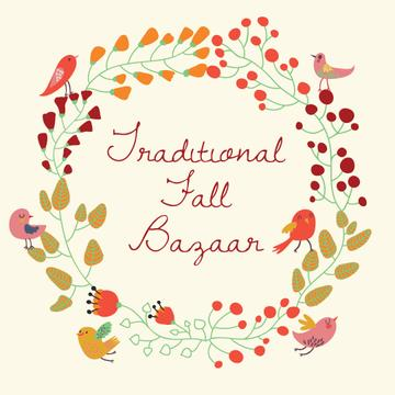Traditional fall bazaar