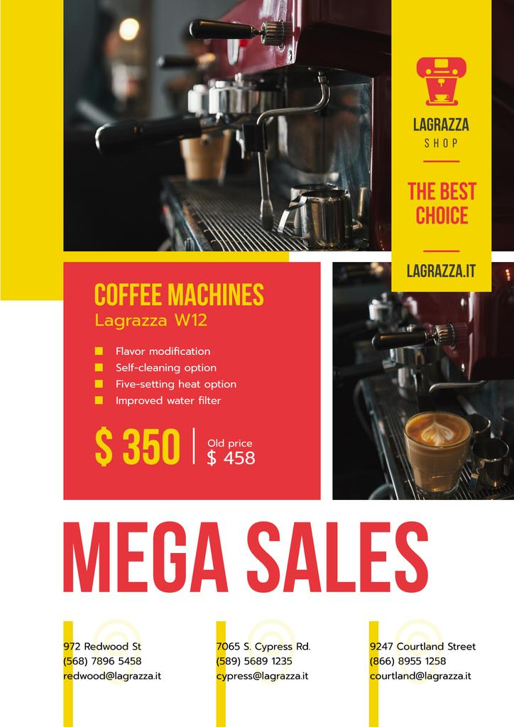 Coffee Machine Sale Brewing Drink — ein Design erstellen