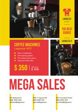 Coffee Machine Sale Brewing Drink | Poster Template