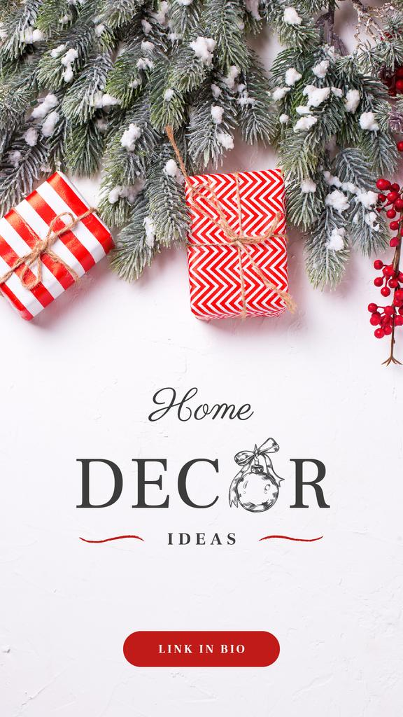 Home Decor ideas with Christmas gift boxes — Maak een ontwerp