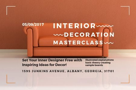 Szablon projektu Interior decoration masterclass Announcement Gift Certificate