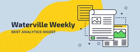 Waterville Weekly Best Analytics Digest Facebook Video cover – шаблон для дизайна