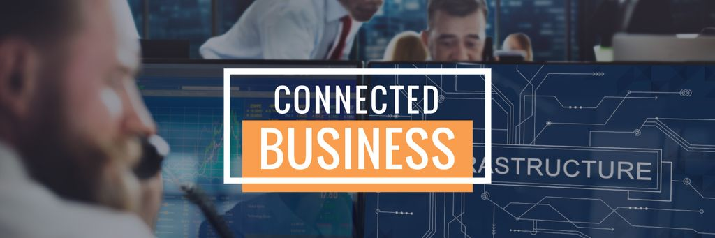 connected business poster — Создать дизайн