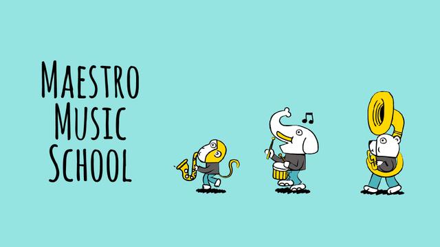 Designvorlage Animal music band für Full HD video