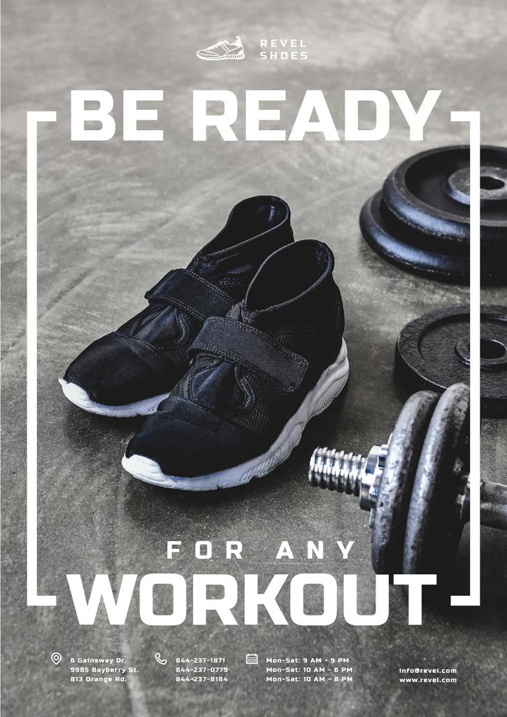 Shoes Store Promotion Sneakers in Gym — ein Design erstellen